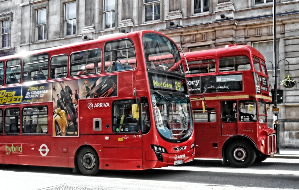 London Buses on Whitehall_by_DncnH