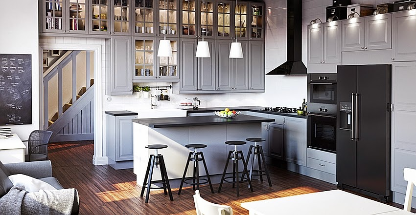 Elegant-modern-grey-kitchen-from-the-Ikea-Catalog-2015